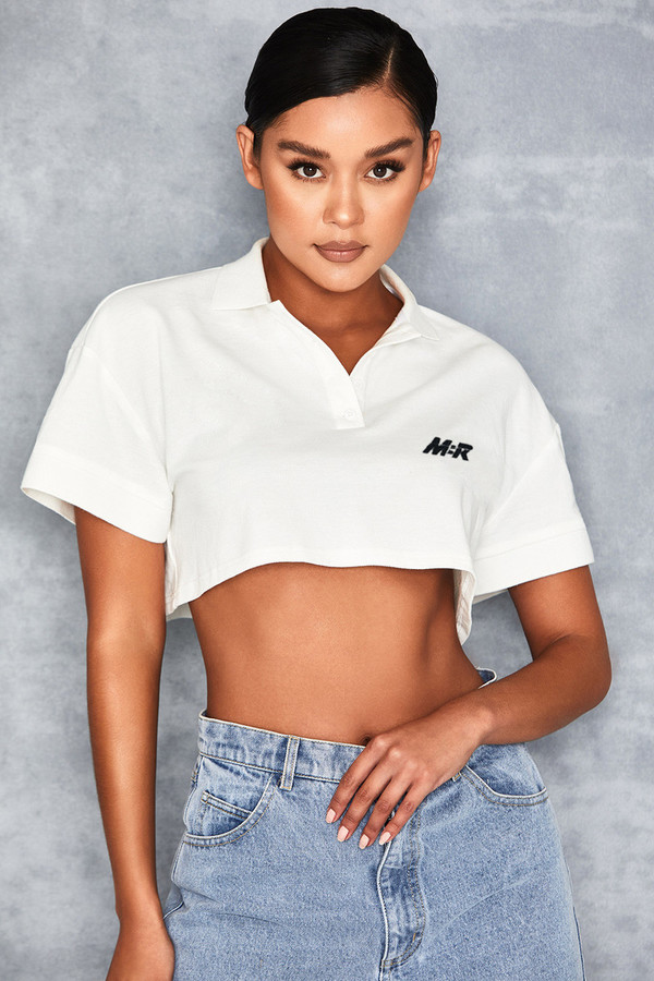Cruiser White Cropped Logo Polo Shirt
