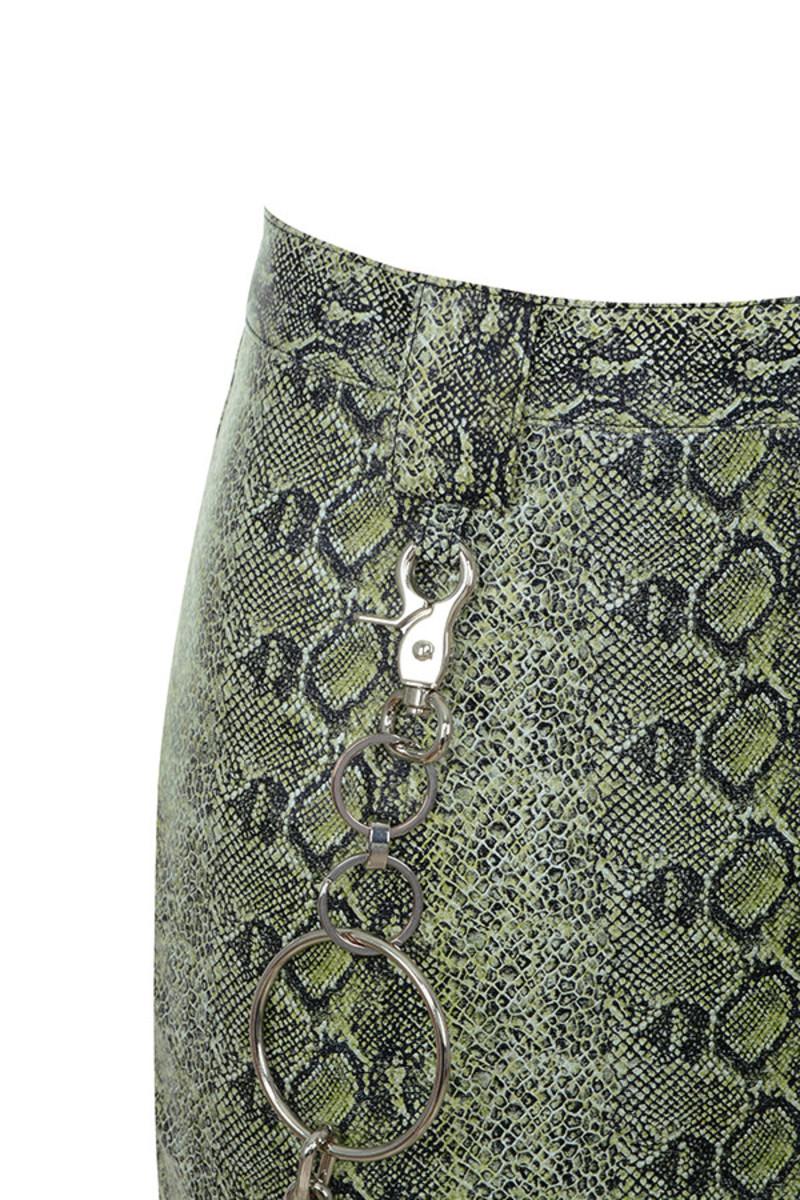 snake skin chance skirt