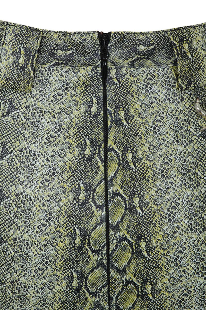 chance snake skin skirt