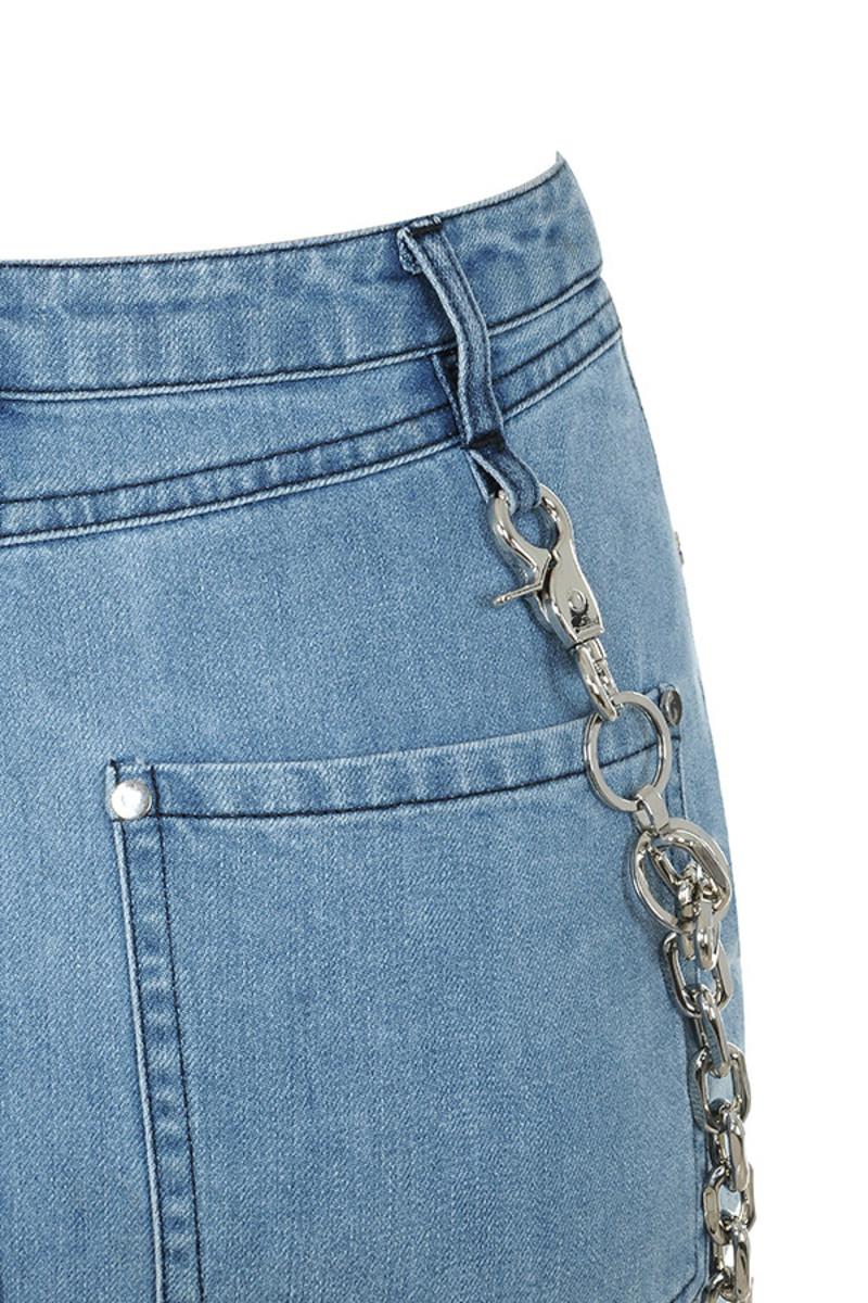 denim famous skirt