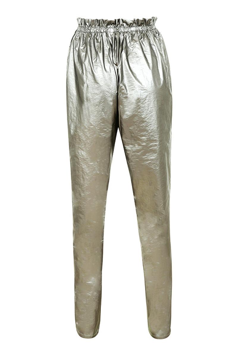 miscreant trosuers in silver