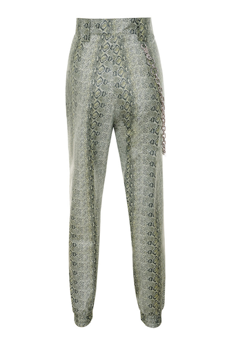 risk trousers in snake skin