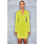 Candy Girl Green Zip Front Mini Dress