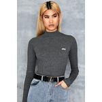 Happy Grey Rib Knit Bodysuit