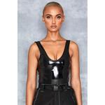 Penalty Black Patent Vinyl Bodysuit