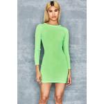 Quest Neon Green Rib Jersey Minidress