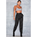 Spirit Black Panelled Biker Joggers