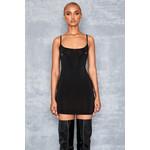 Tempo Black Ring Detail Mini Vest Dress