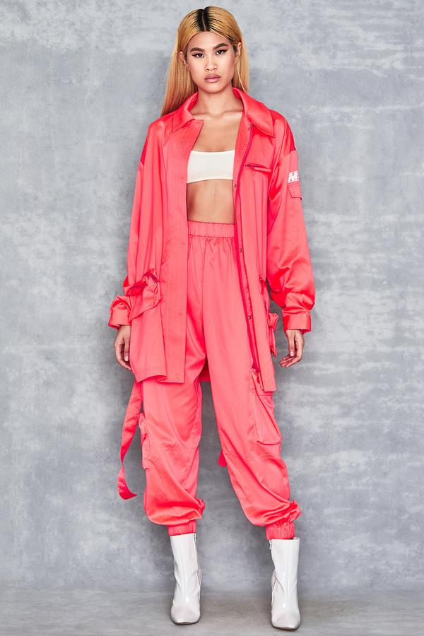 Bandit Neon Coral Nylon Trousers