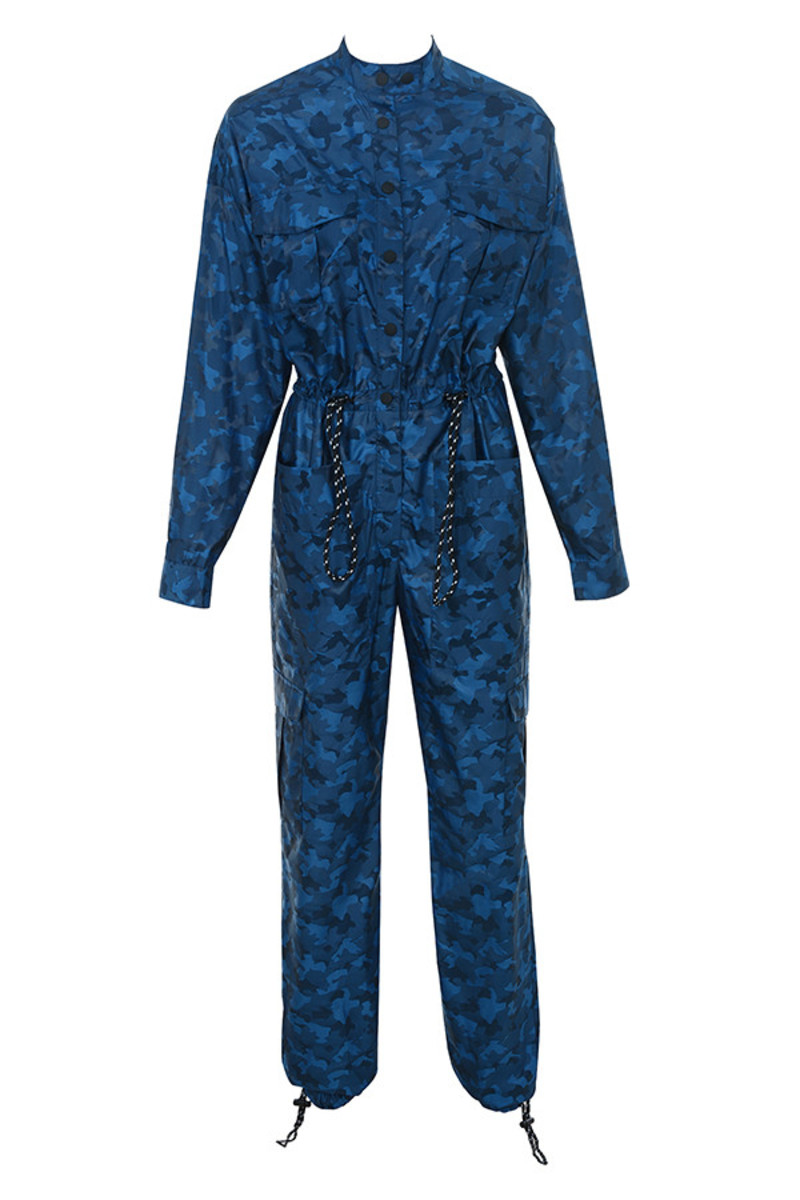 blue guided jumpsuit