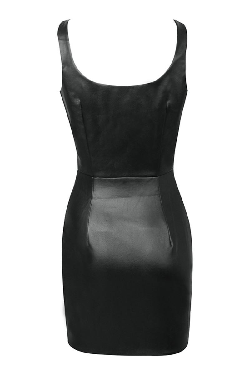 doting dress in black