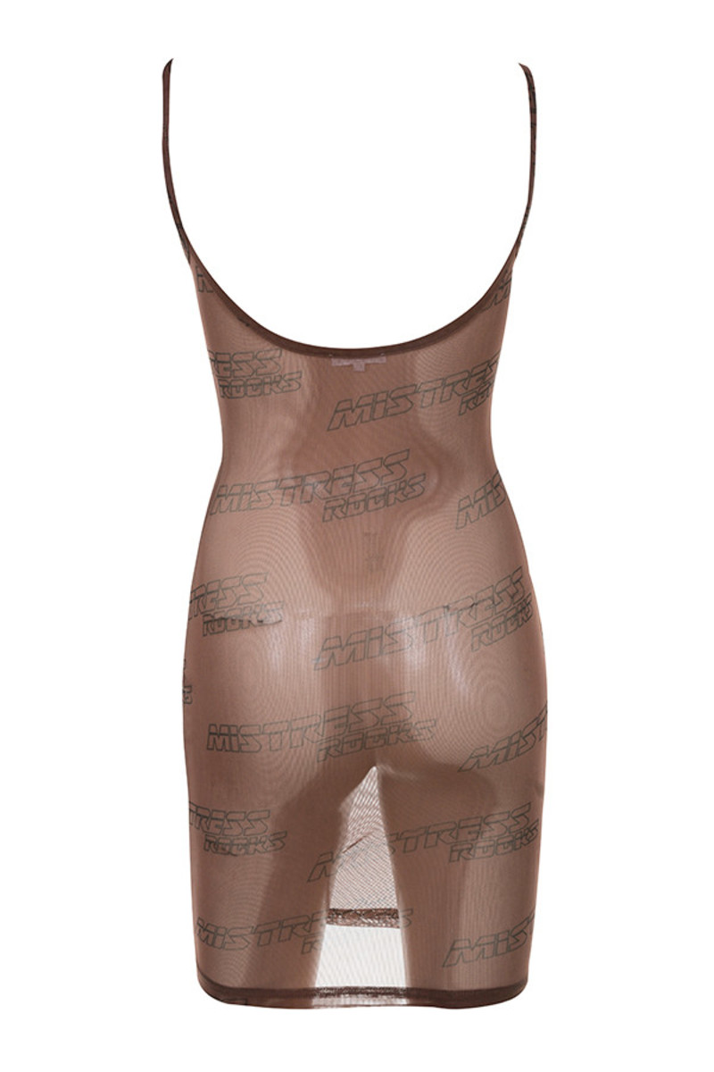 flow dress in brown