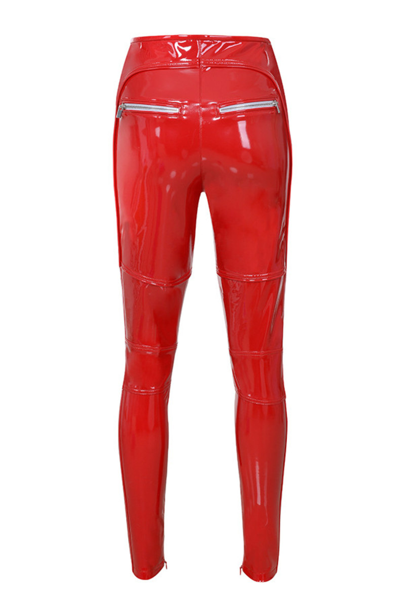 helter skelter trousers in red