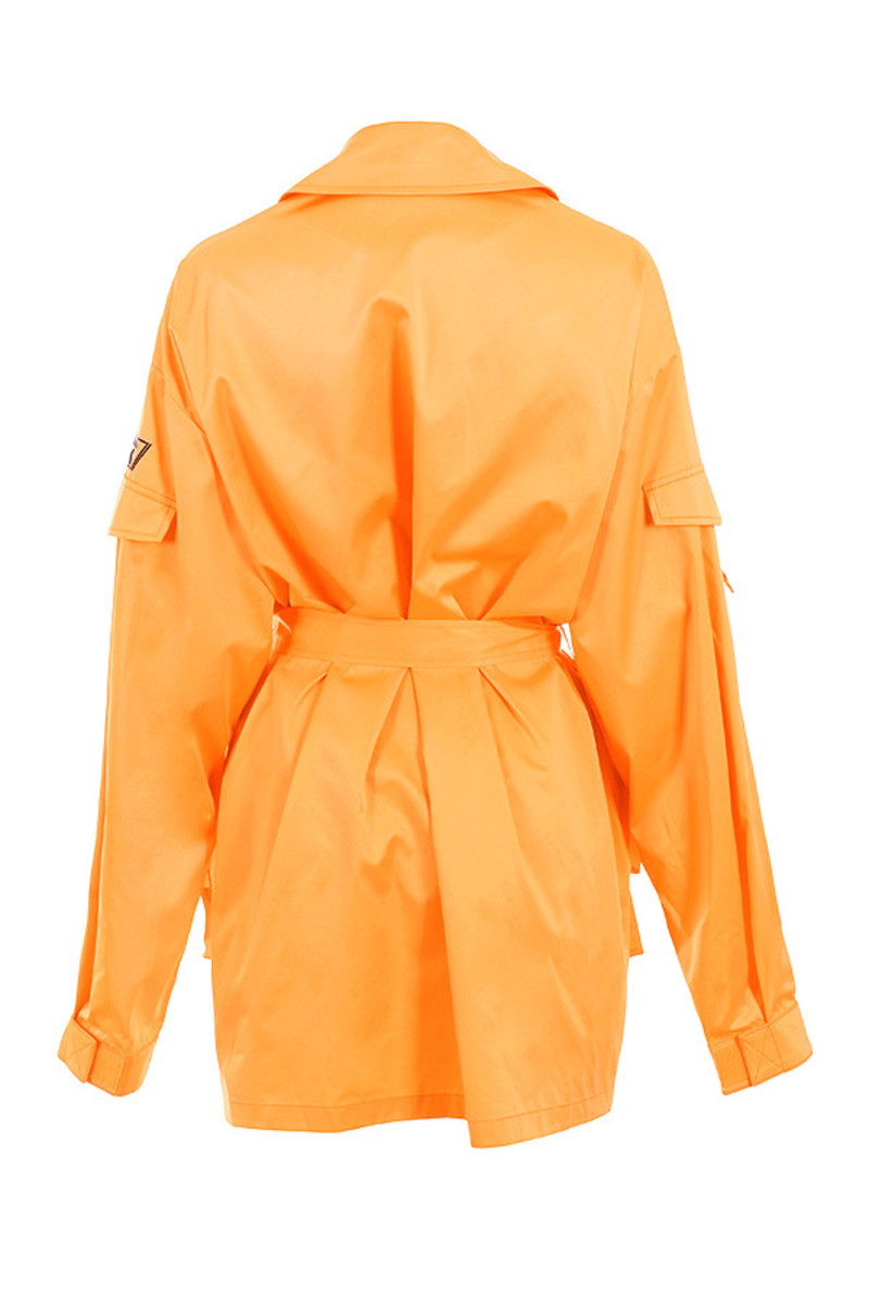 opening jacket in orange