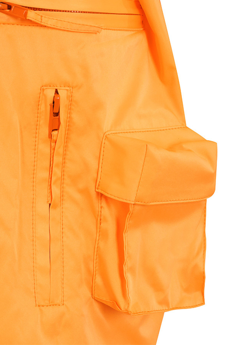 orange opening jacket
