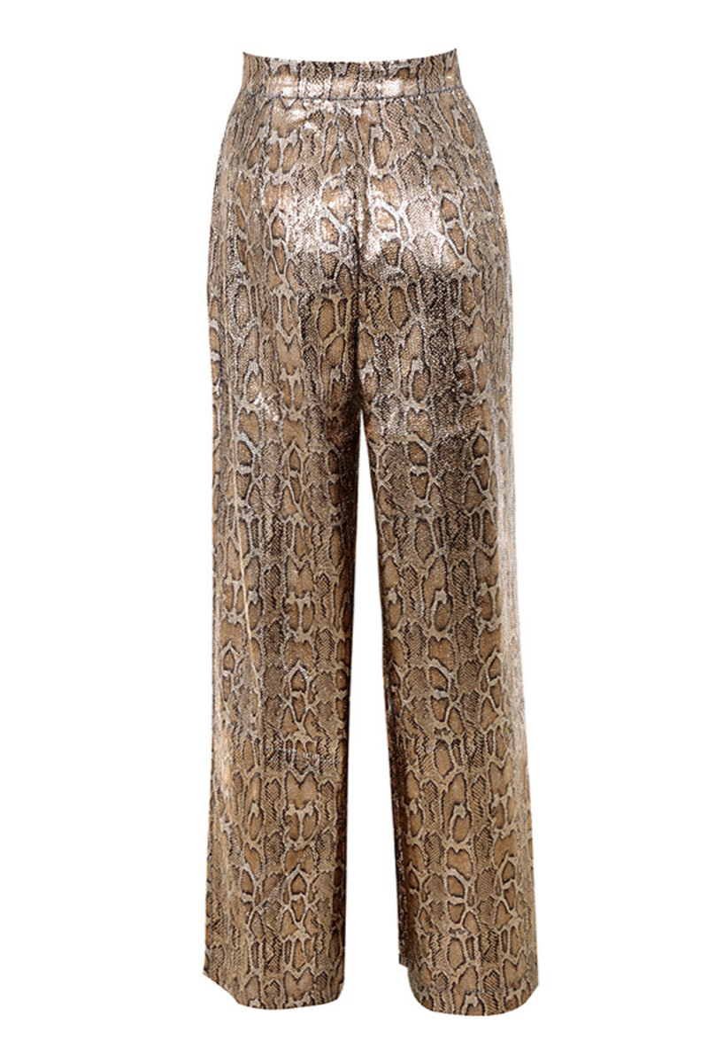 postpone trousers in snake skin