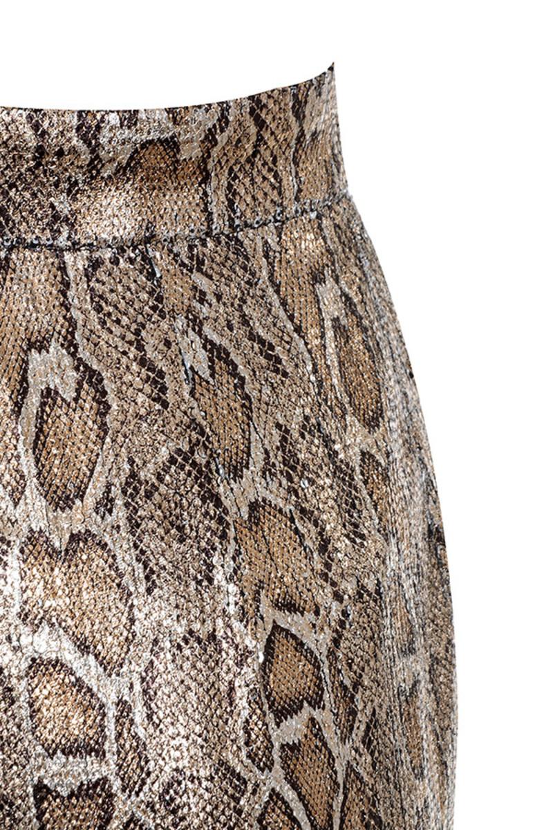 snake skin postpone trousers