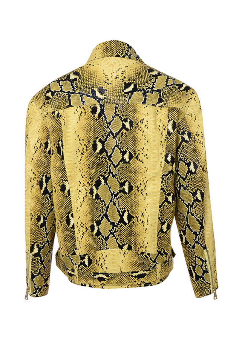 princeton jacket in snakeskin