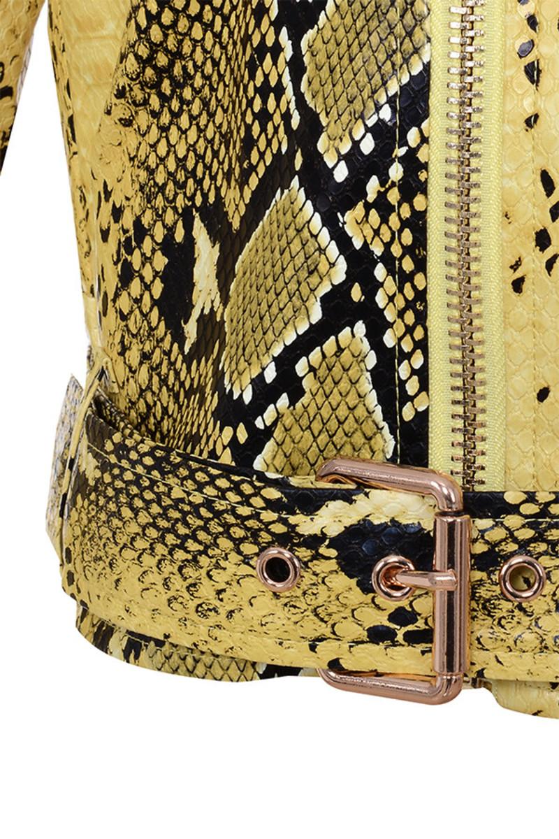 snakeskin princeton jacket