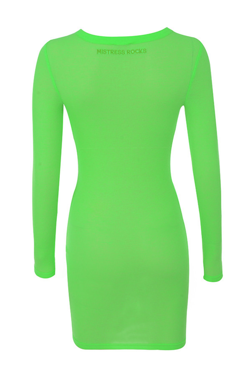 quest dress in green