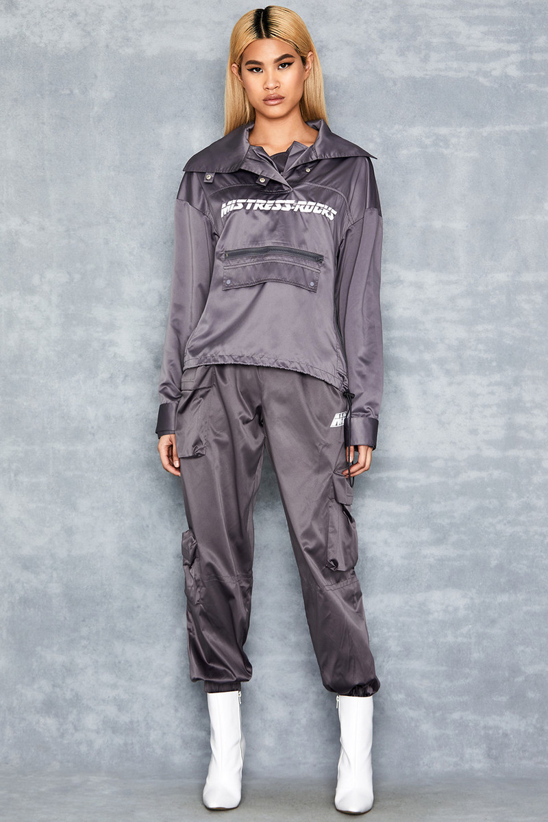 Bandit Grey Nylon Trousers