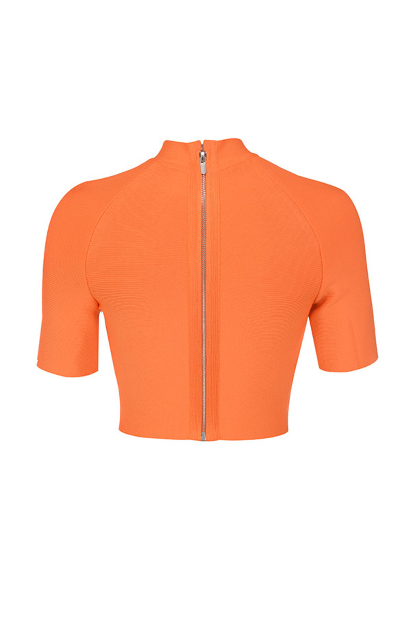 saviour top in orange