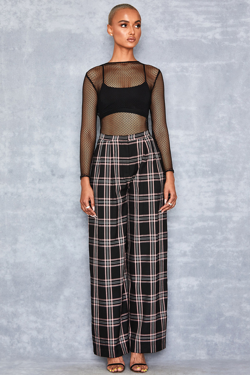 Tyrant Black + Pink Extreme Wide Leg Trousers