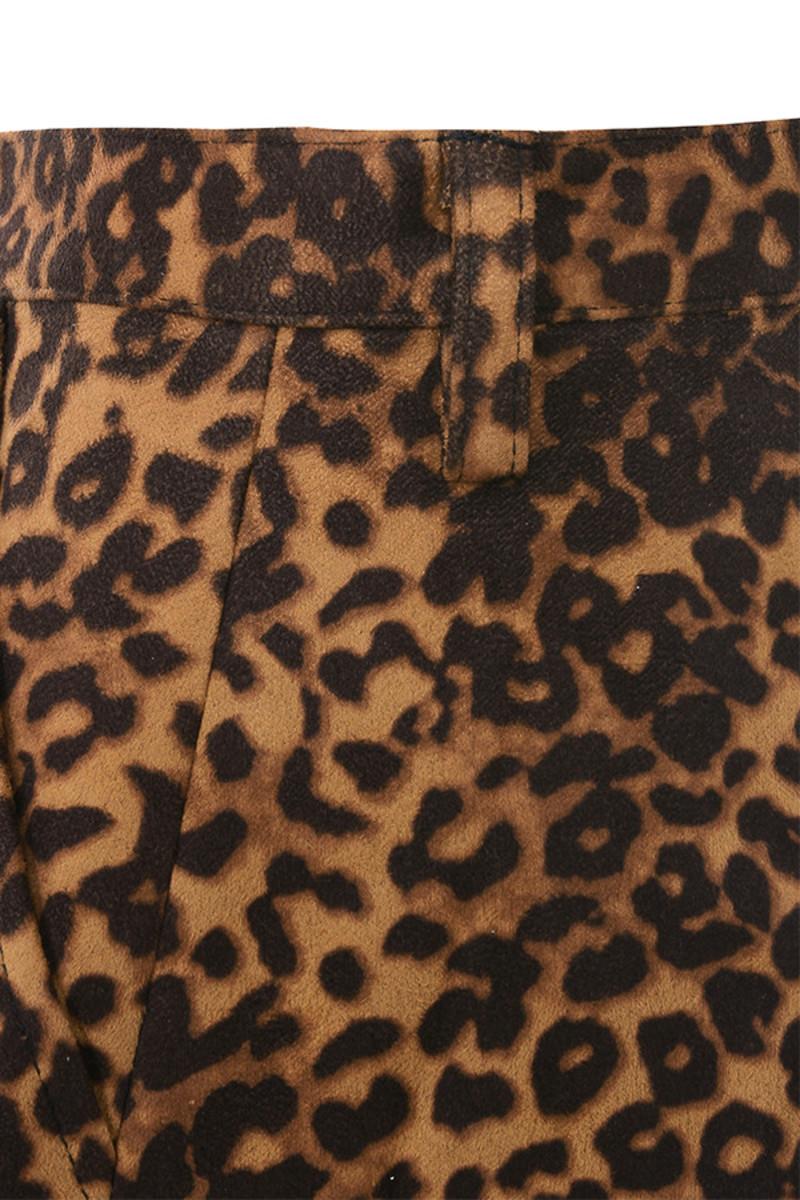 leopard yasss shorts