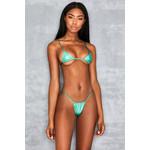 Next To Nothing Iridescent Aqua Micro Bikini