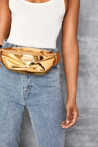 Dime Gold Bum Bag