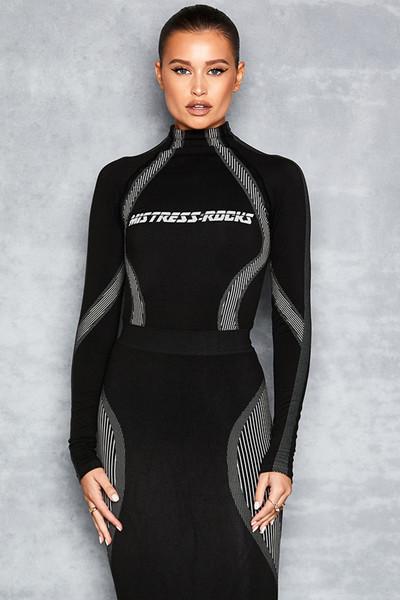 Score Black Stretch Knit Bodysuit