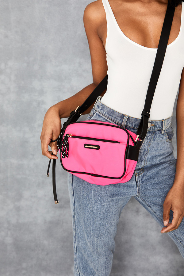 Flinch Hot Pink Cross Body Bag