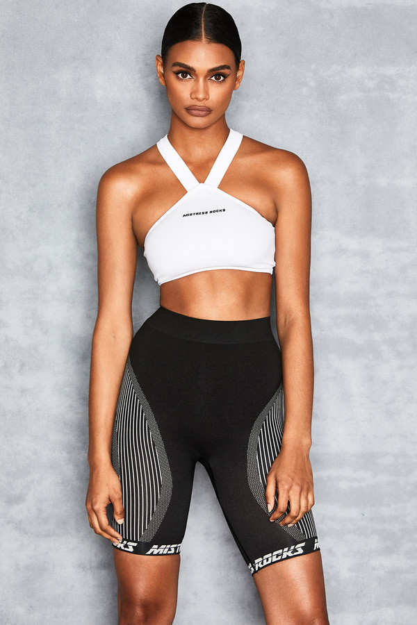 Layer Cake Black Stretch Knit Cycle Shorts