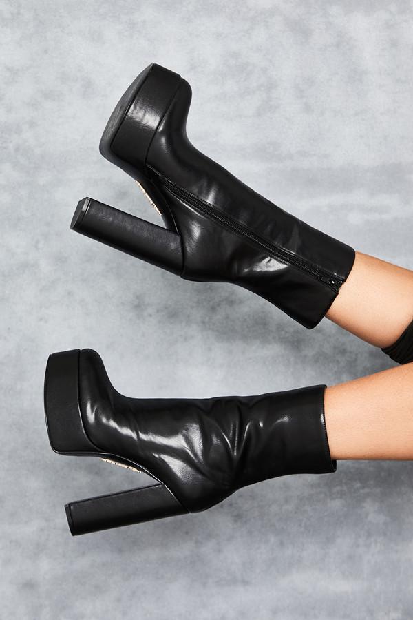 Mephisto Black Platform Ankle Boots