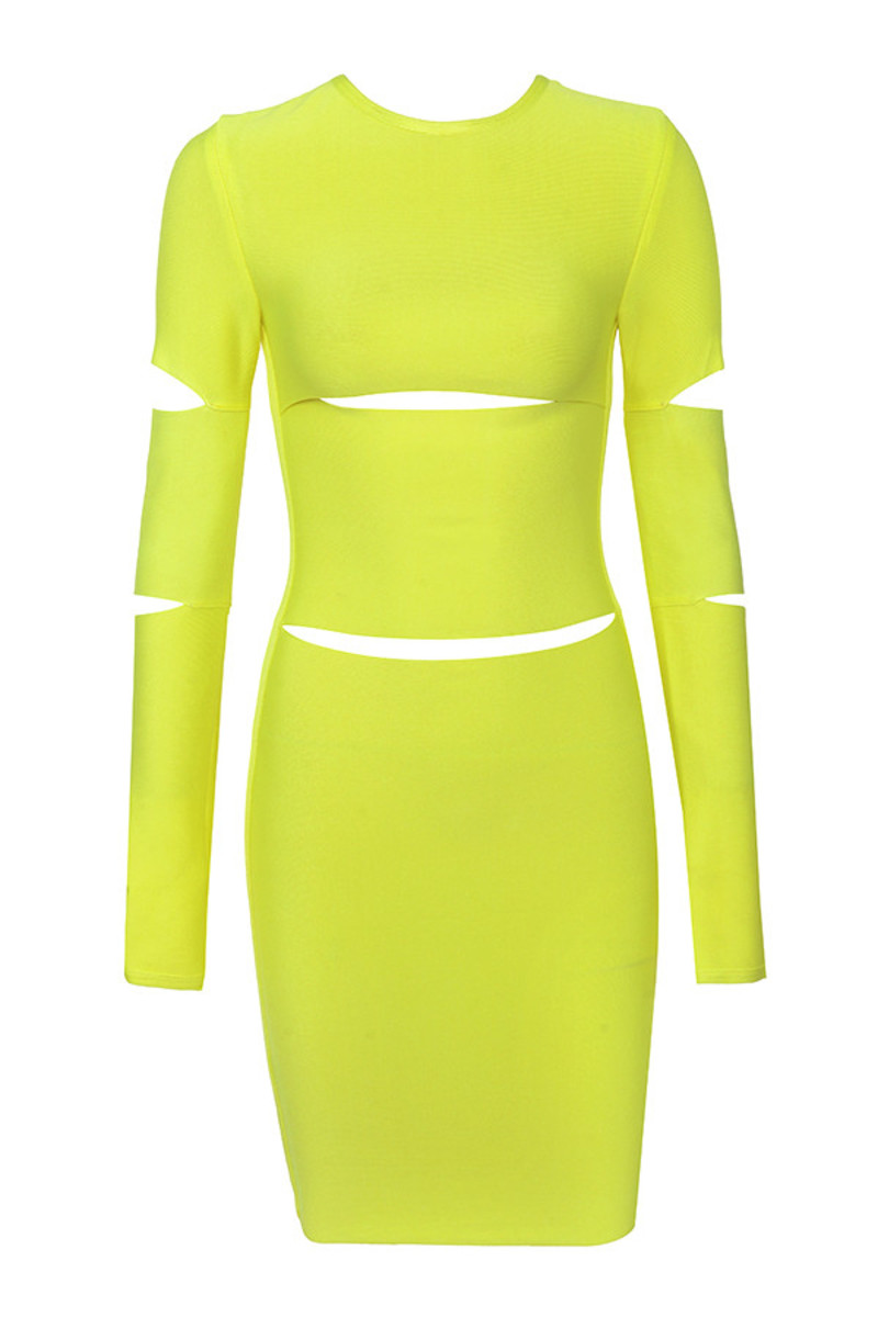 caring neon yellow