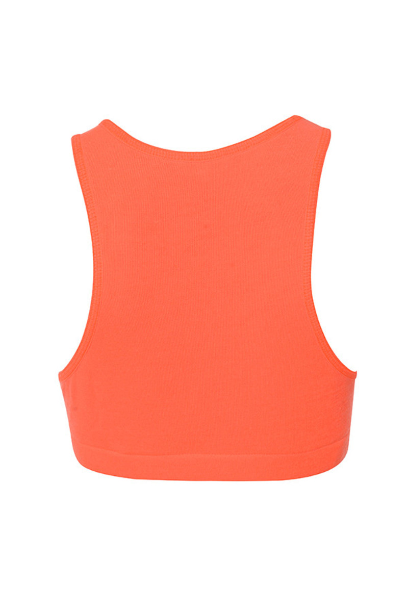 abound top in neon orange
