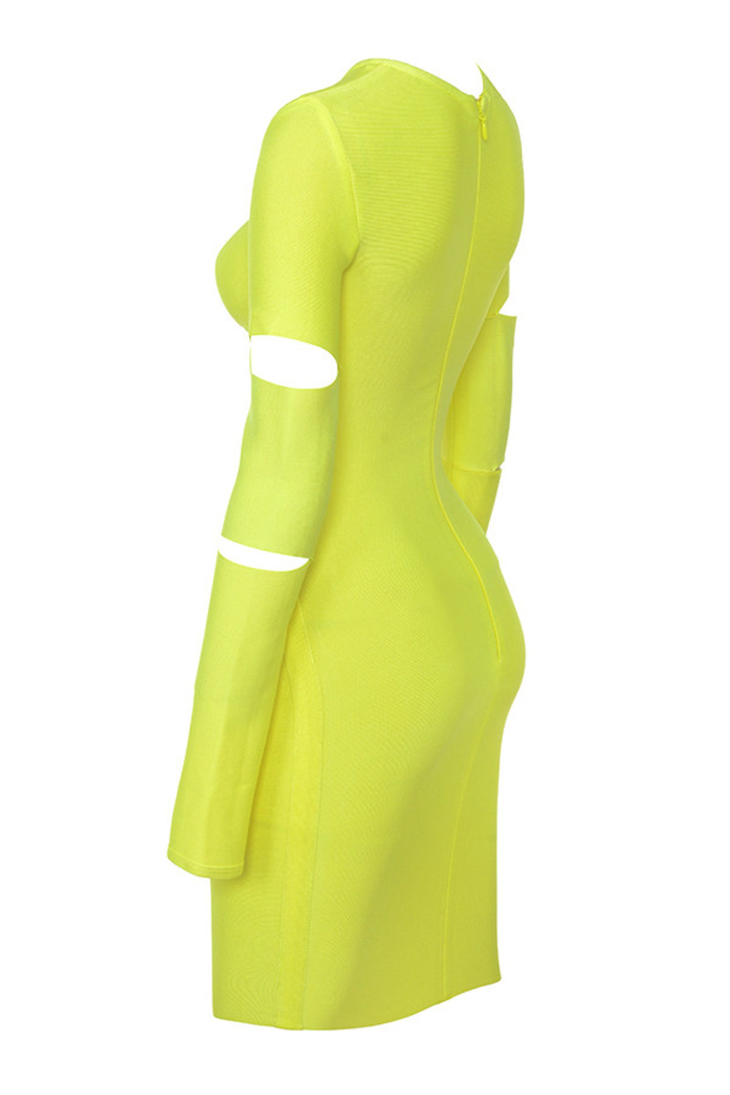 caring in neon yellow