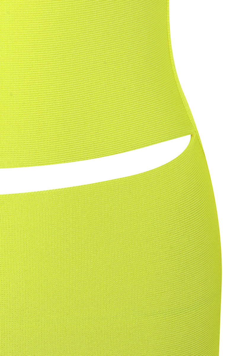 neon yellow caring dress
