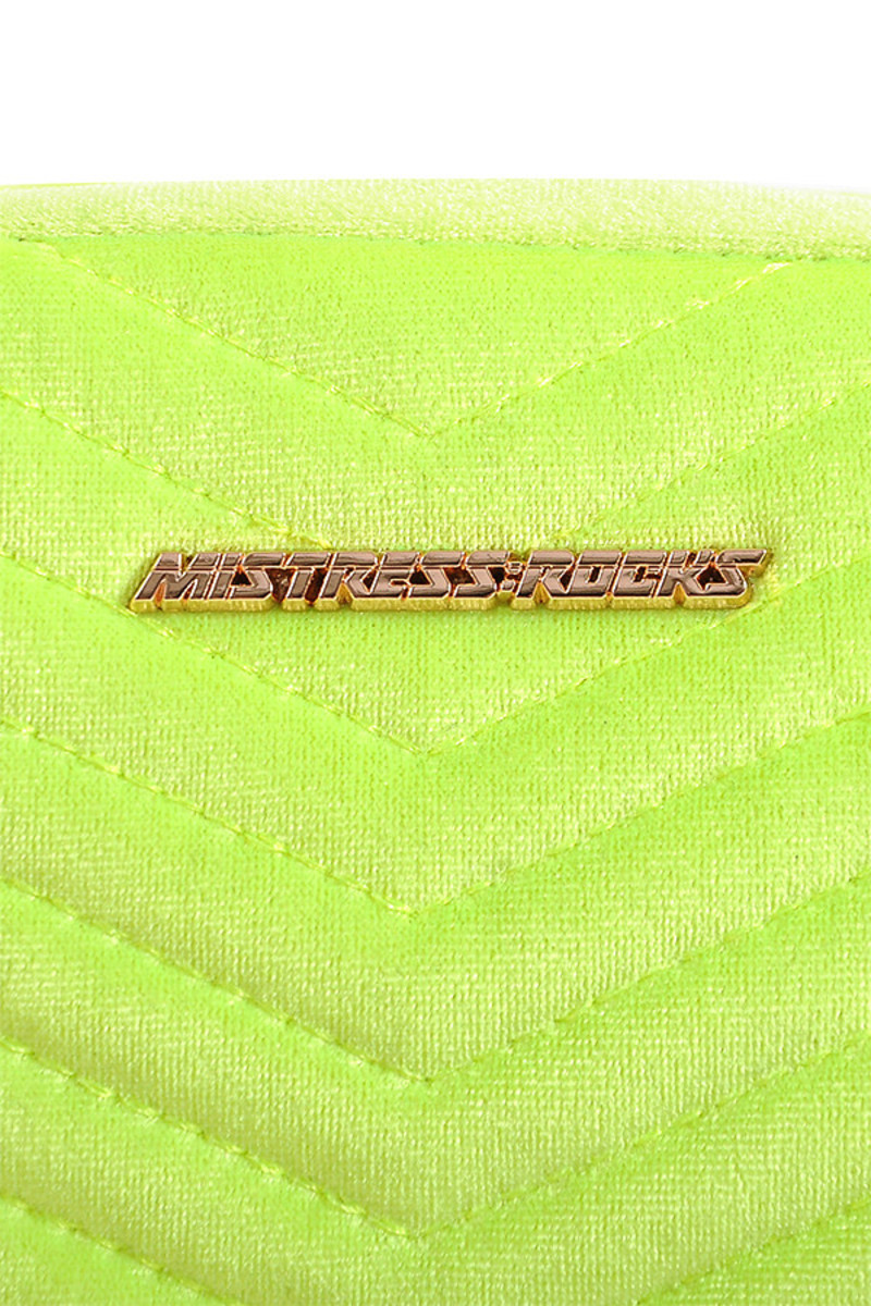 neon yellow dollar bag