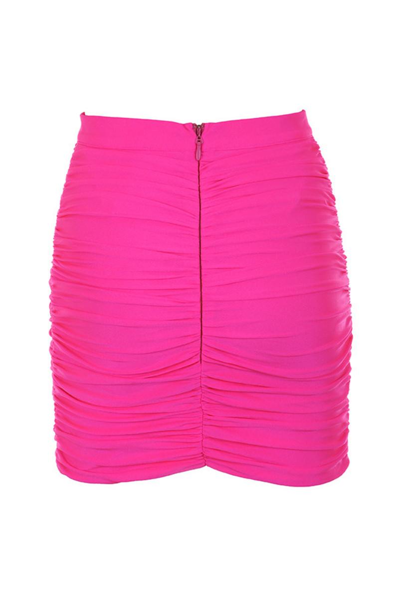 festival skirt in pink