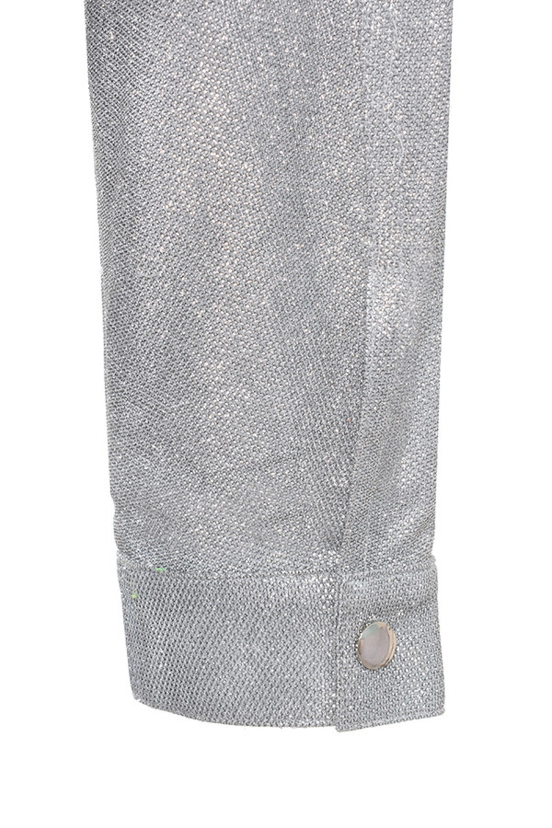 hey girl silver jumpsuit