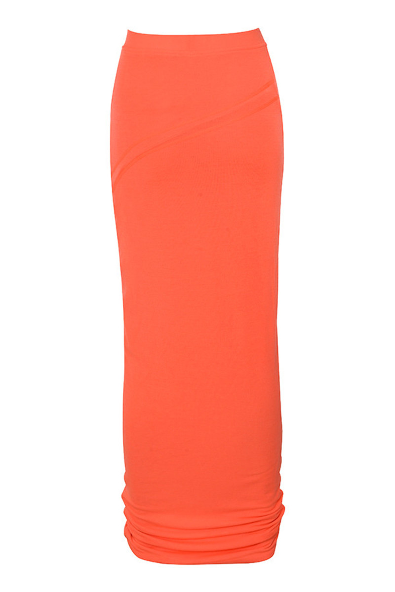 magnify skirt in neon orange