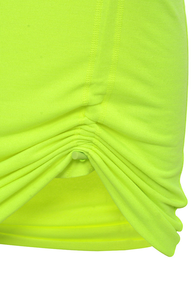 neon lime magnify skirt