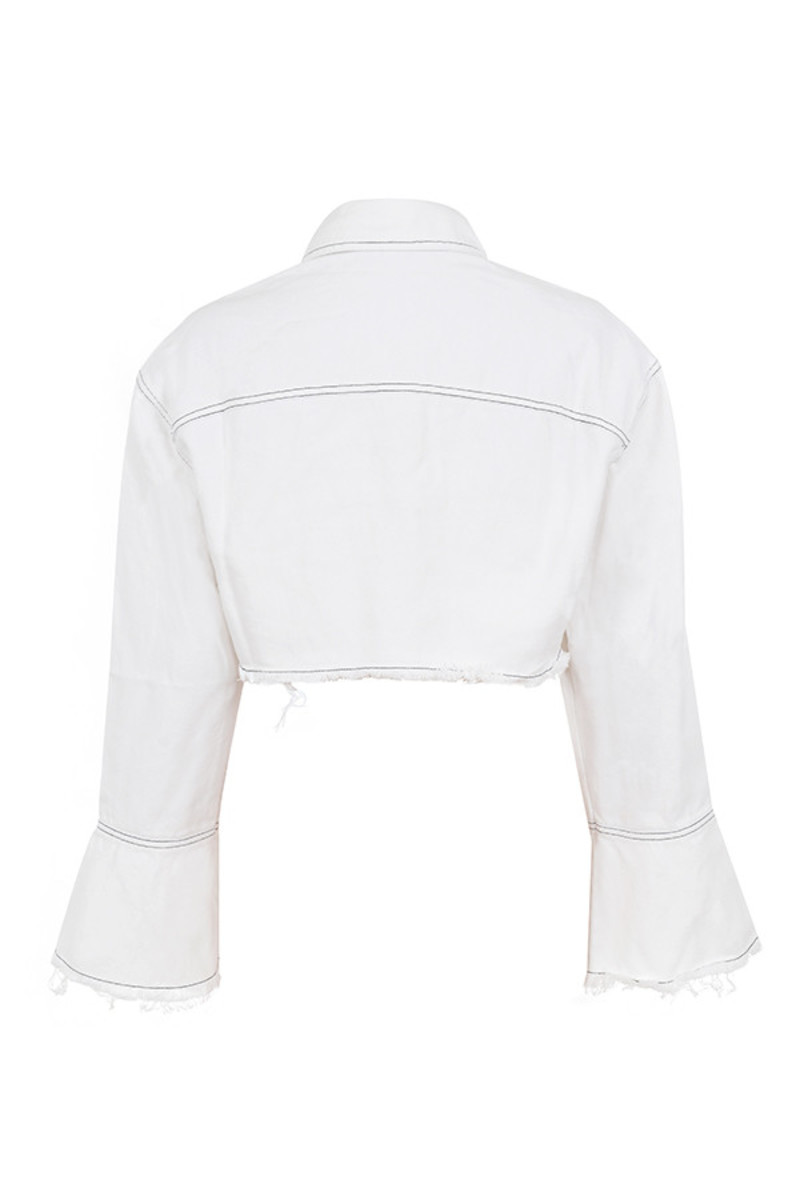 meet up jacket in white