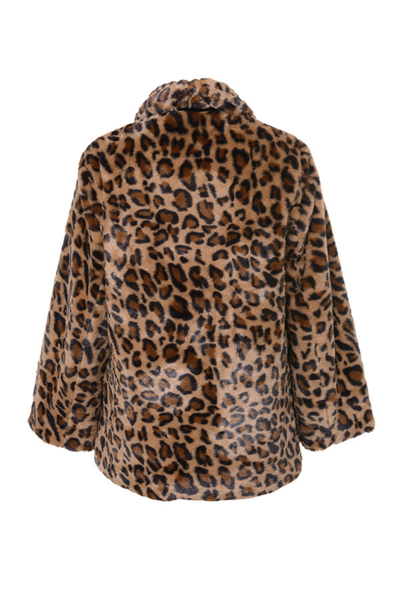 novice jacket in leopard