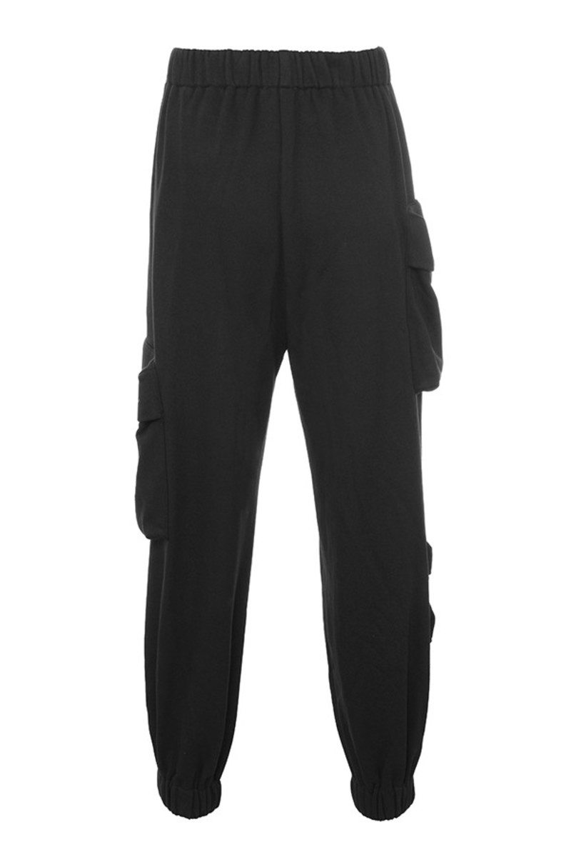 one love joggers in black