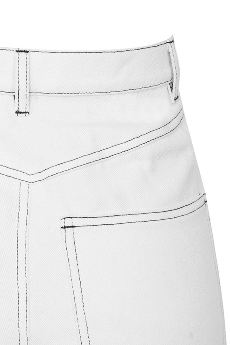 white perception jeans