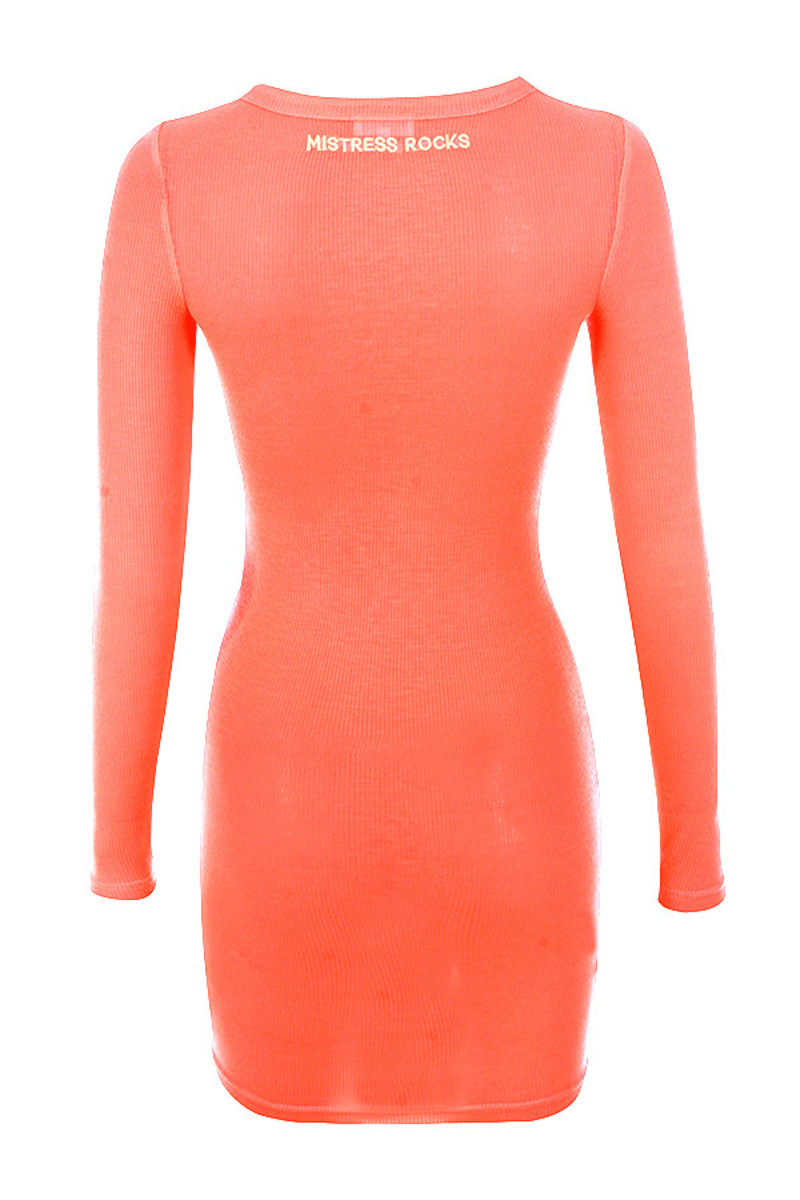 quest dress in coral