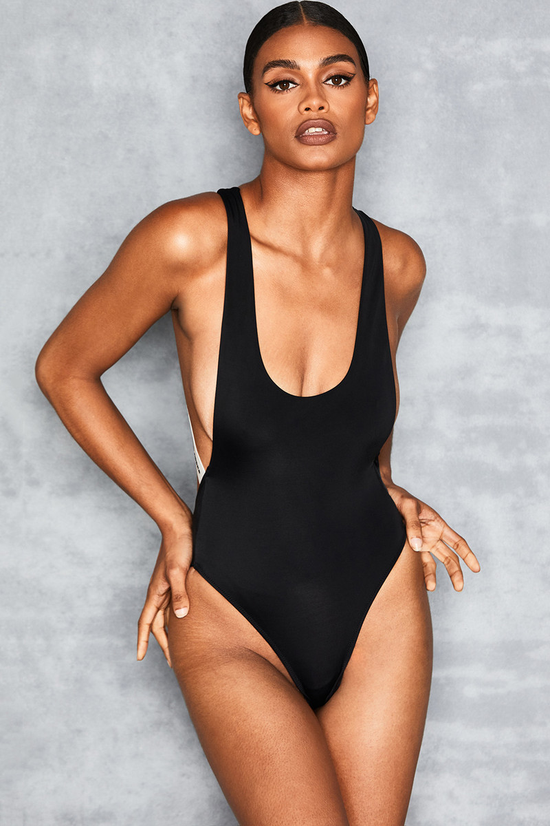 Raider Black White One Piece Swimsuit