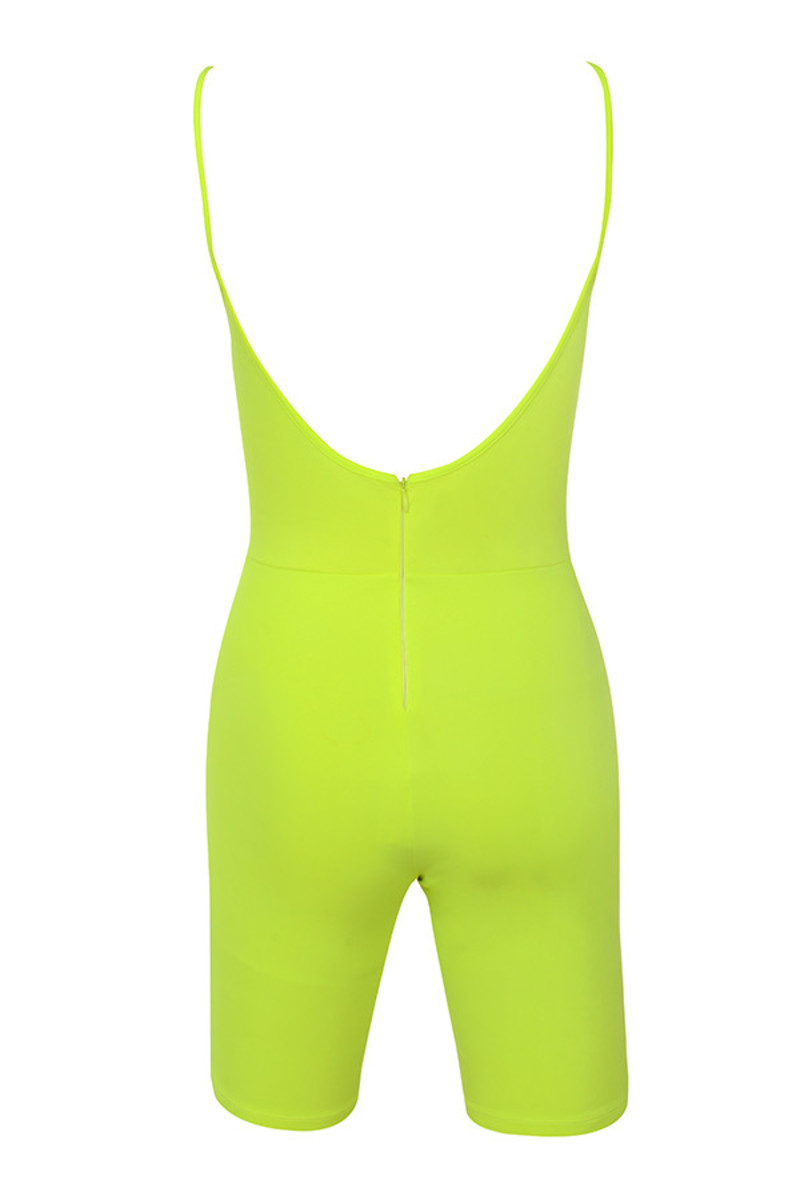 reason playsuit in lime